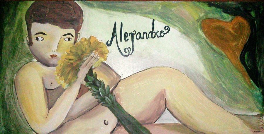 Meza Painting - Alejandro by Vickie Meza