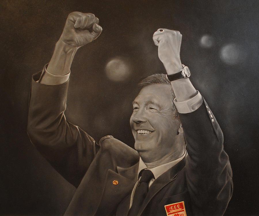 Alex Ferguson Painting - Alex Ferguson by David Dunne