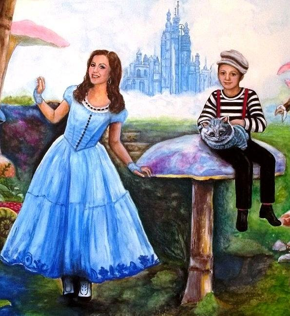 Watercolor Painting Painting - Alex In Wonderland by Melodye Whitaker