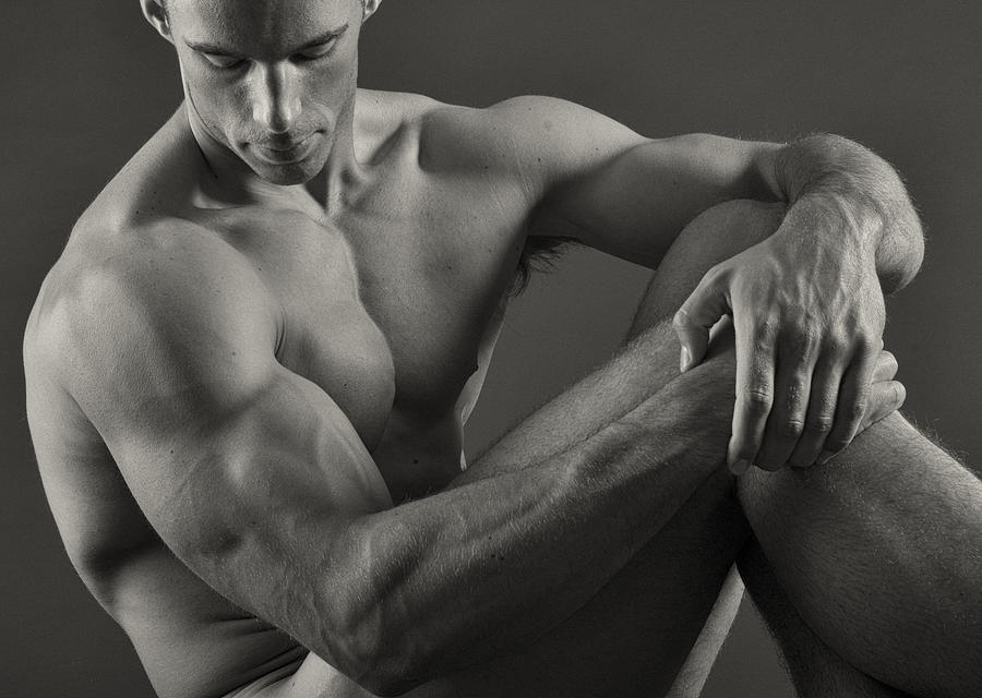 Male Nude Photograph - Alex Repose by Thomas Mitchell