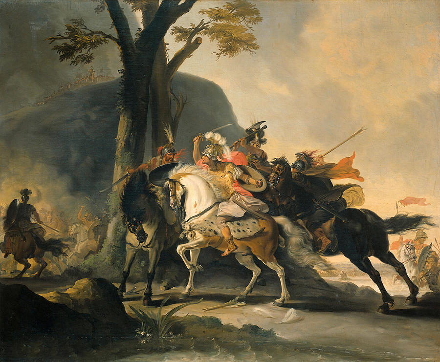 Alexander The Great In The Battle Against The Persians At