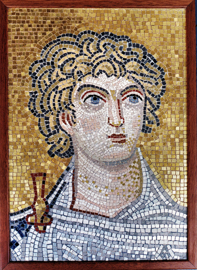 Mosaic Painting - Alexander The Great -mosaic by Alexandros Giannios