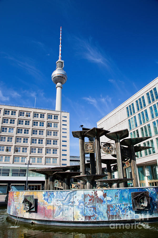 Berlin Photograph - Alexanderplatz View On Television Tower Berlin Germany by Michal Bednarek