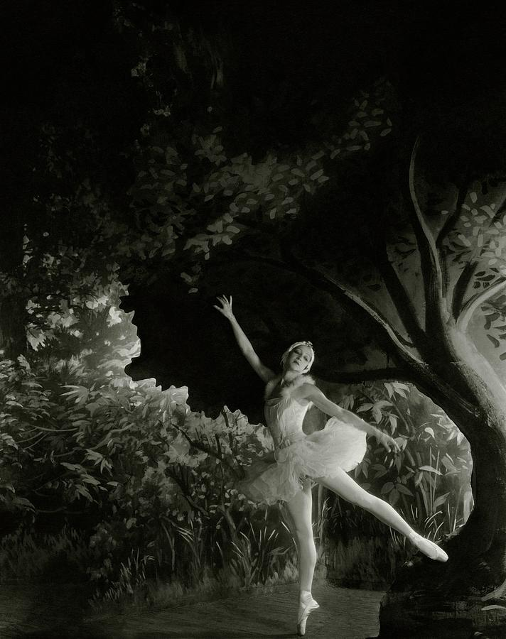 Alexandra Danilova In Swan Lake Photograph by Cecil Beaton