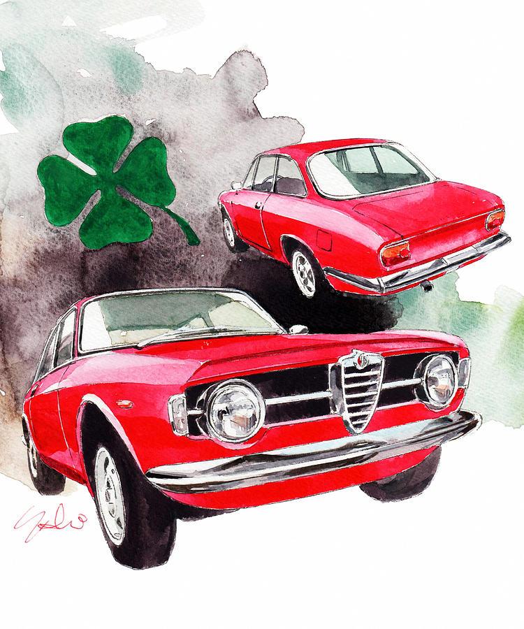 Alfa Romeo Giulia Painting - Alfa Romeo Giulia by Yoshiharu Miyakawa