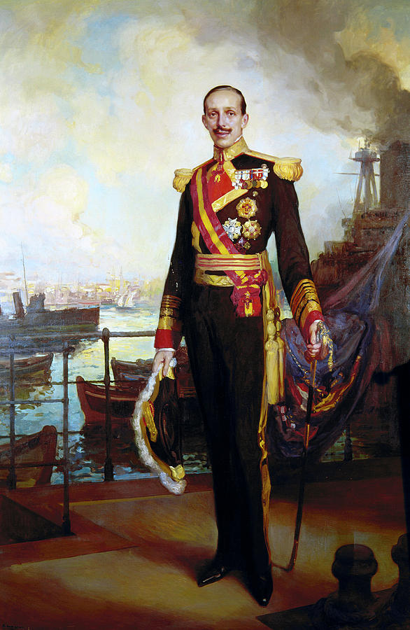 Alfonso Xiii Of Spain (1886-1941) Painting by Granger