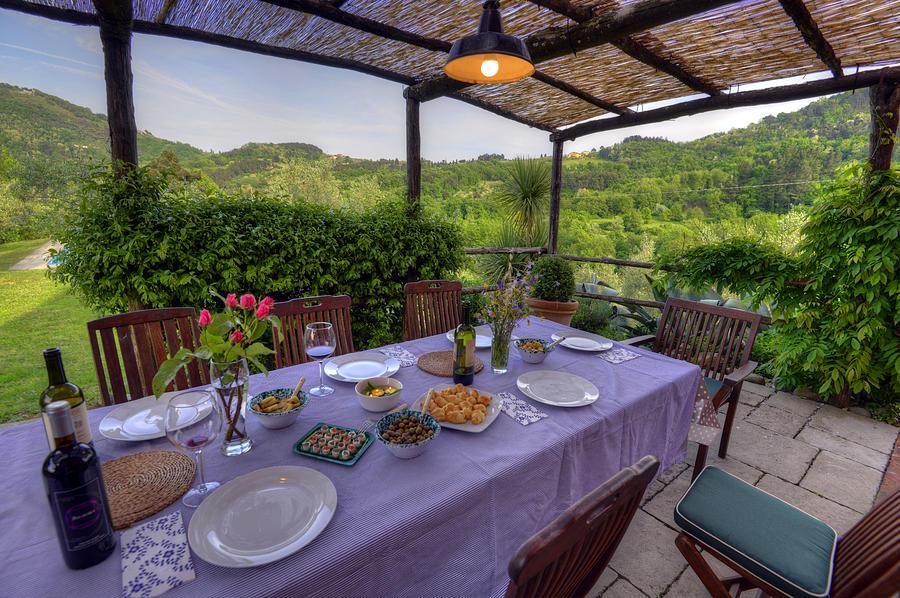 Europe Photograph   Alfresco Dining In Tuscany By Matt Swinden