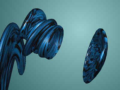 Postmodern Digital Art - Algorhitmic Abstraction B01 by Teo Spiller