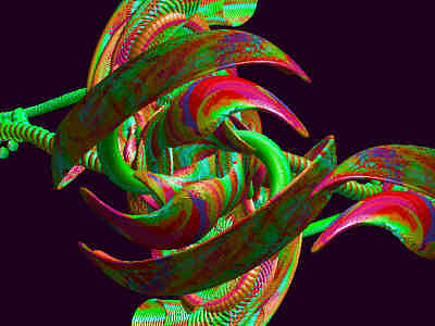 Organic Digital Art - Algorhitmic Abstraction B03 by Teo Spiller