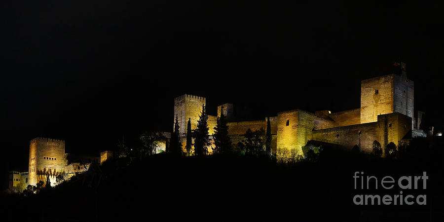 Europe Photograph - Alhambra At Night by Rudi Prott