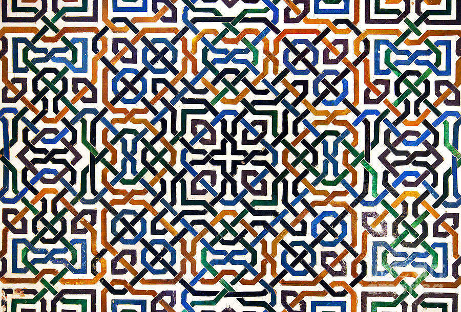 Alhambra Photograph - Alhambra tile detail by Jane Rix