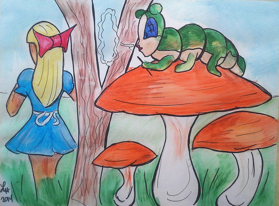 Alice Painting - Alice Asking For Directions by Loretta Nash