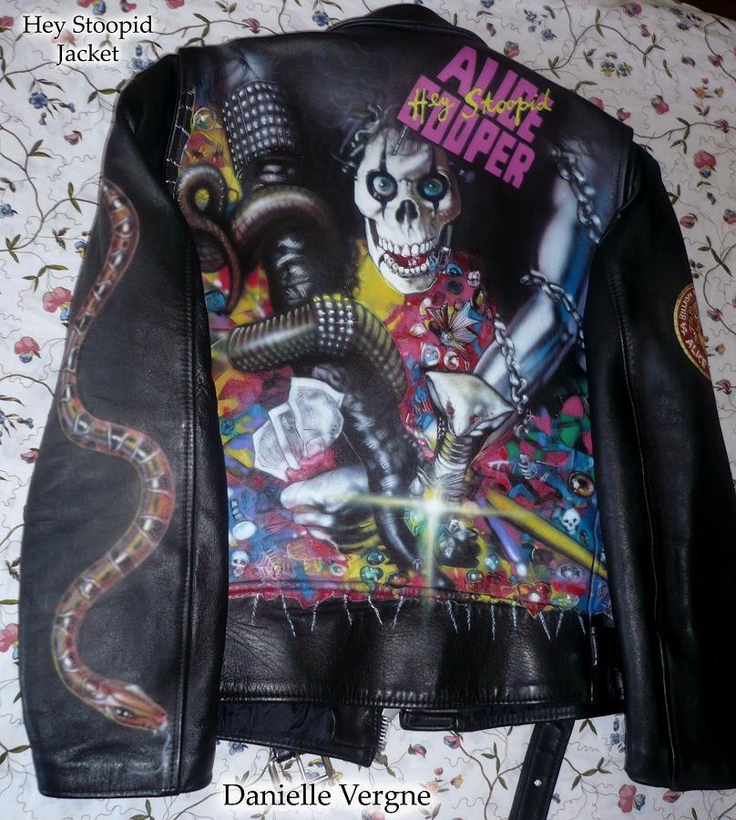 Alice Cooper Hey Stoopid Leather Jacket By Danielle Vergne