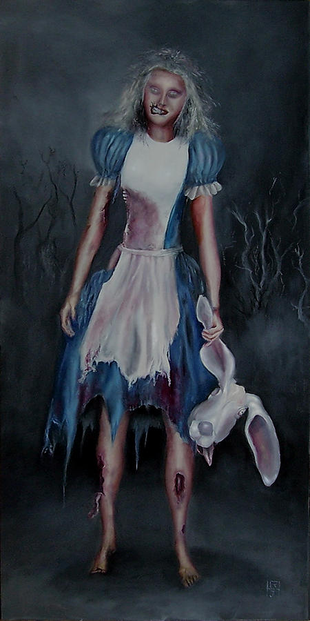 Alice Painting - Alice Doesnt Live Here Anymore by John Hodgson