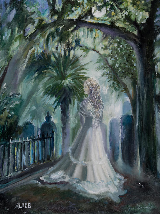 Ghost Painting - Alice Flagg - The Ghost Of Murrells Inlet by Jane Woodward