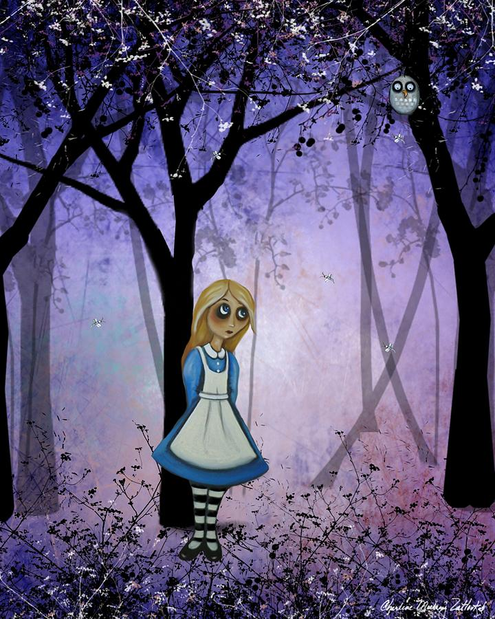 Alice in an Enchanted Forest by Charlene Murray Zatloukal
