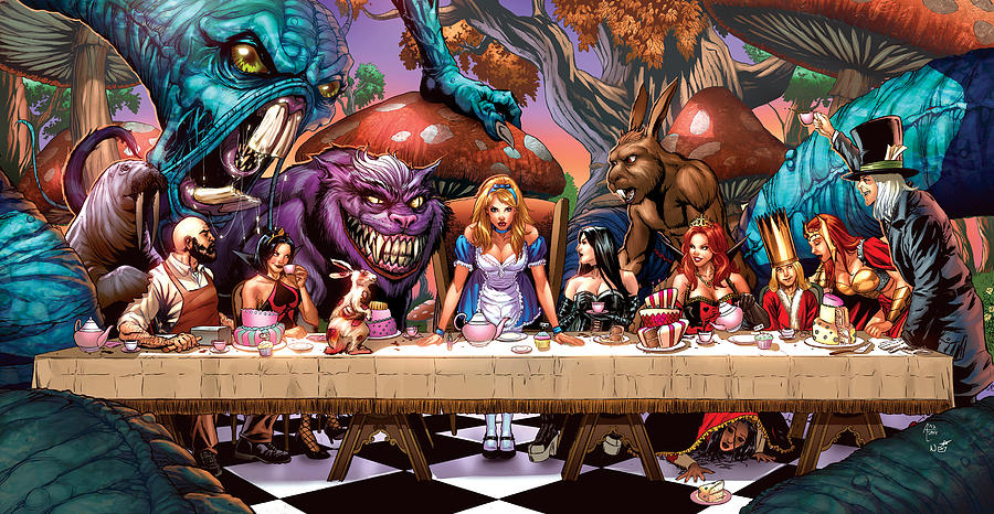 Grimm Fairy Tales Drawing - Alice In Wonderland 06a by Zenescope Entertainment