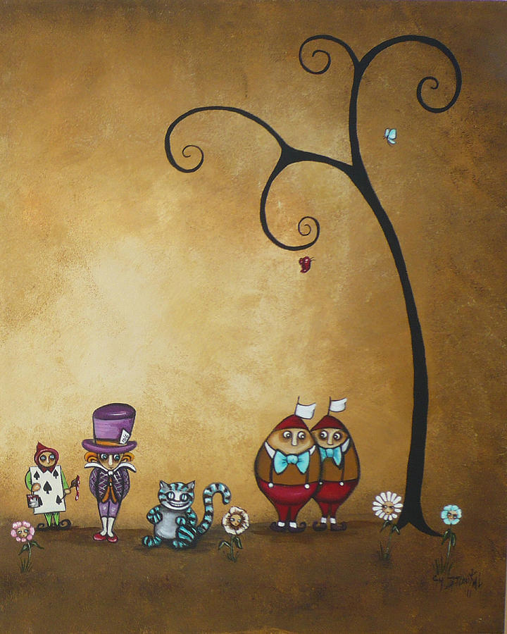 Alice In Wonderland Painting - Alice In Wonderland Art - Encore - II by Charlene Zatloukal
