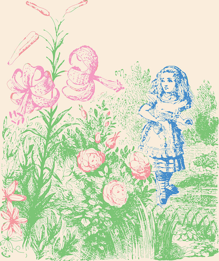 flowers from alice in wonderland images