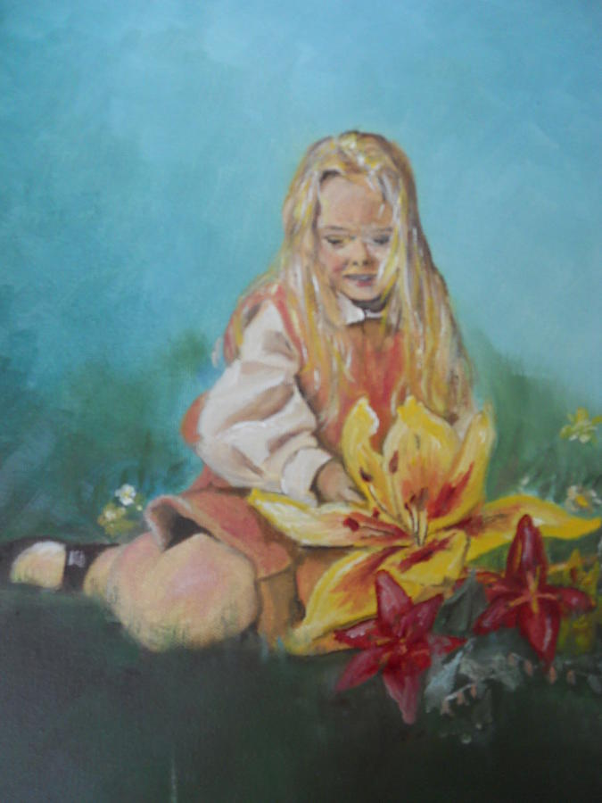 Portrait Painting - Alice In Wonderland by Joyce Reid