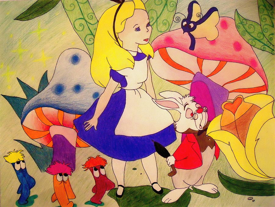 Alice In Wonderland Drawing - Alice by Jessica Sanders