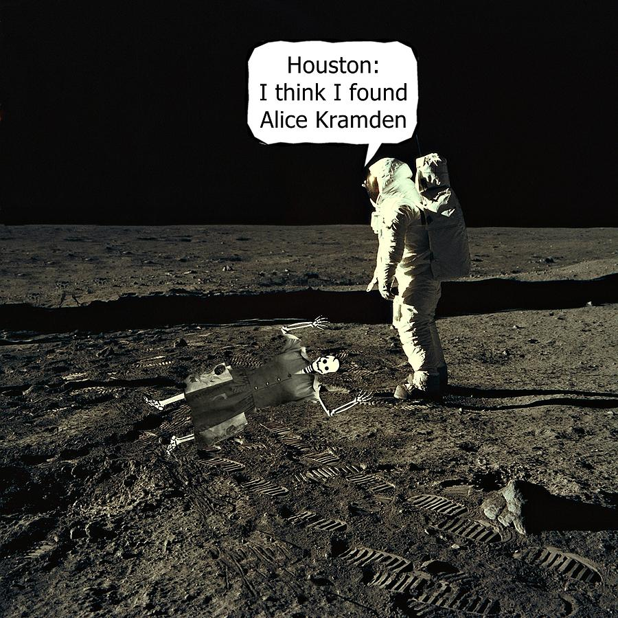 Alice Kramden On The Moon Photograph By David Dehner