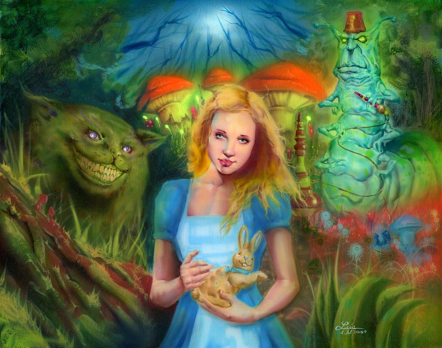 Fantasy Painting - Alice  by Luis  Navarro