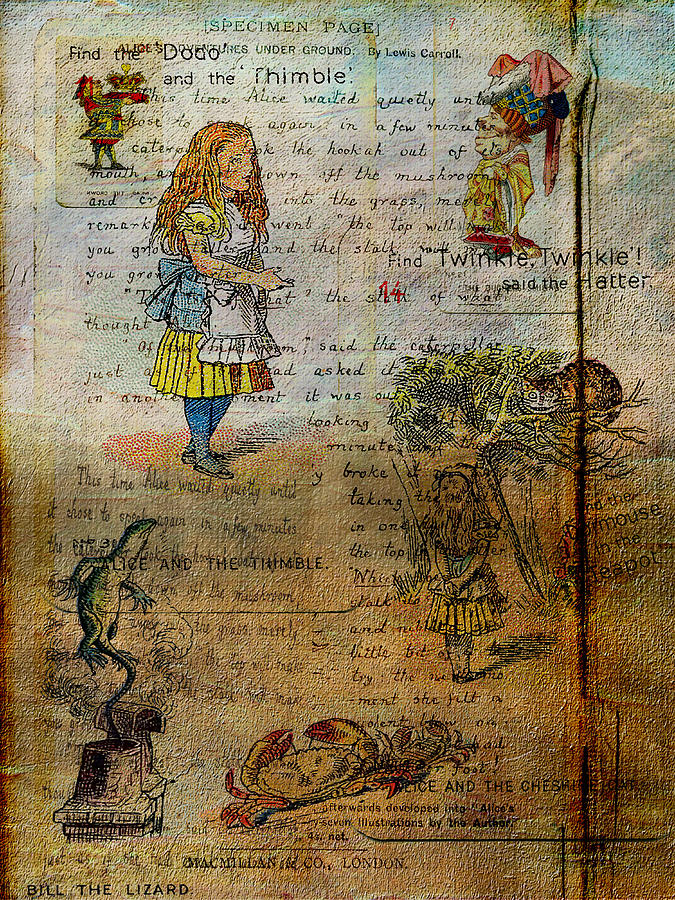 Alice Digital Art - Alices Adventures by Sarah Vernon