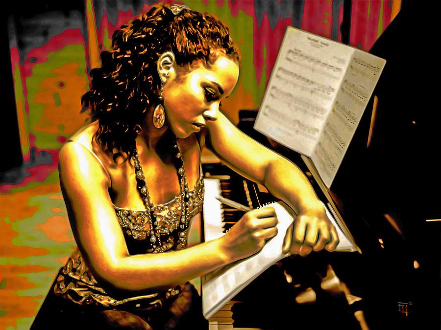 Alicia Keys Painting - Alicia Keys by Fli Art