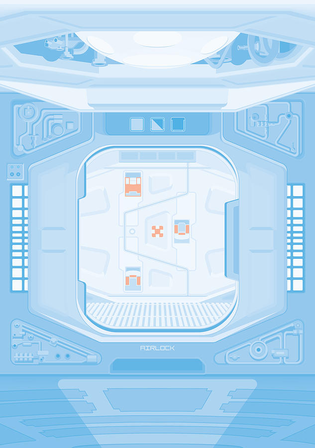 Alien Digital Art - Alien 1979 Poster - Airlock by Peter Cassidy