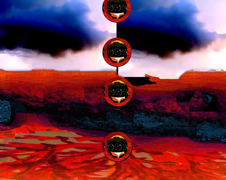 Digital Digital Art - Alien Deposit by Dane Ann Smith Johnsen