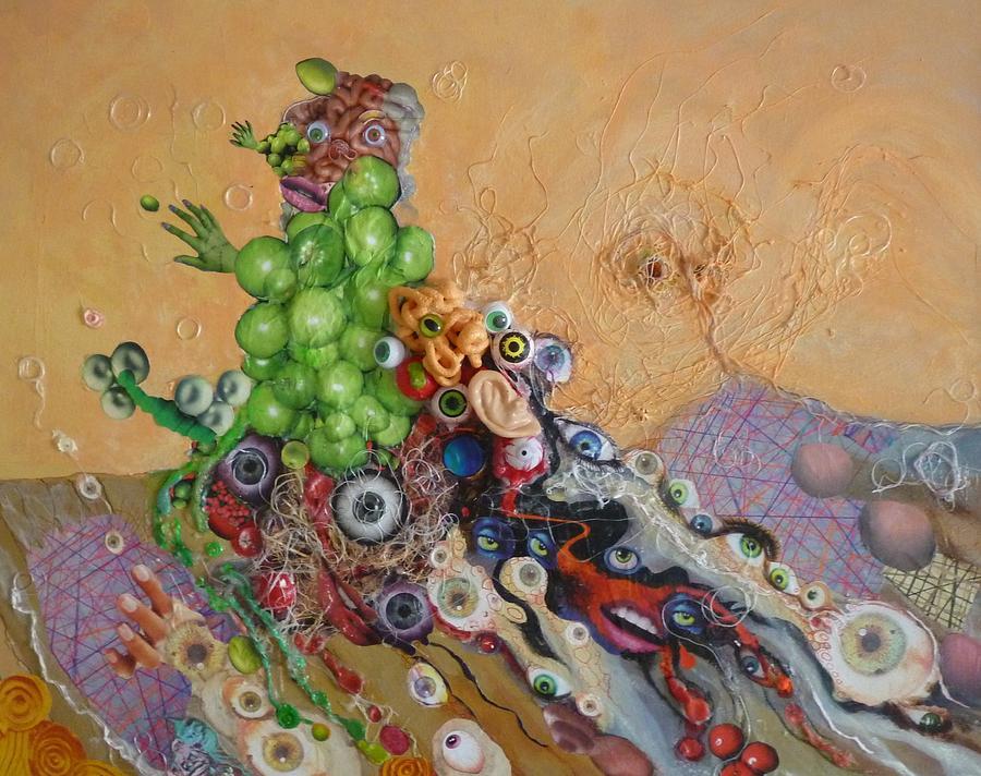 Alien Mixed Media - Alien Dog Pile by Douglas Fromm