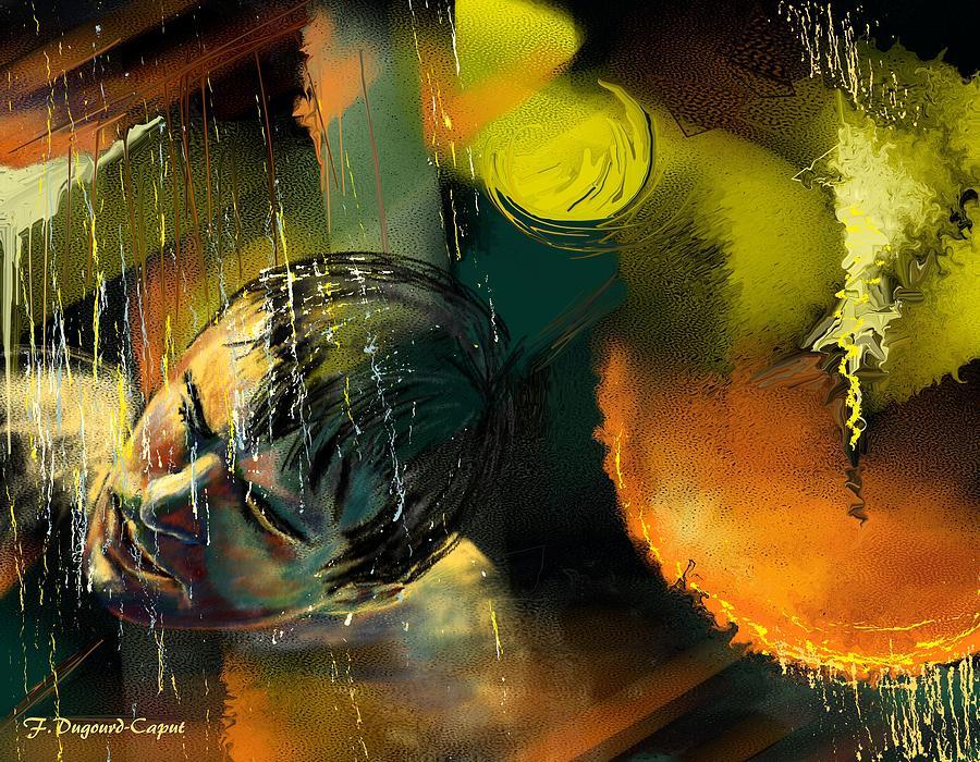 Digital Painting Painting - Alien by Francoise Dugourd-Caput