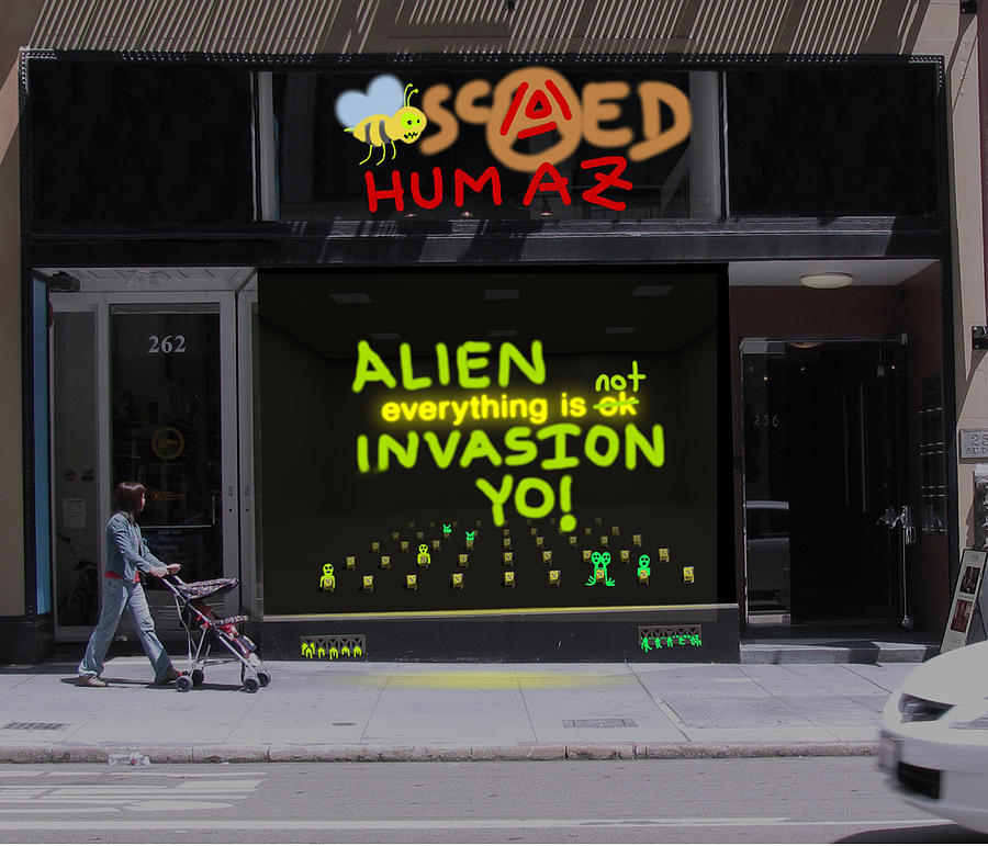 Alien Invasion Yo - Everything Is Not Okay Photograph by John Hines