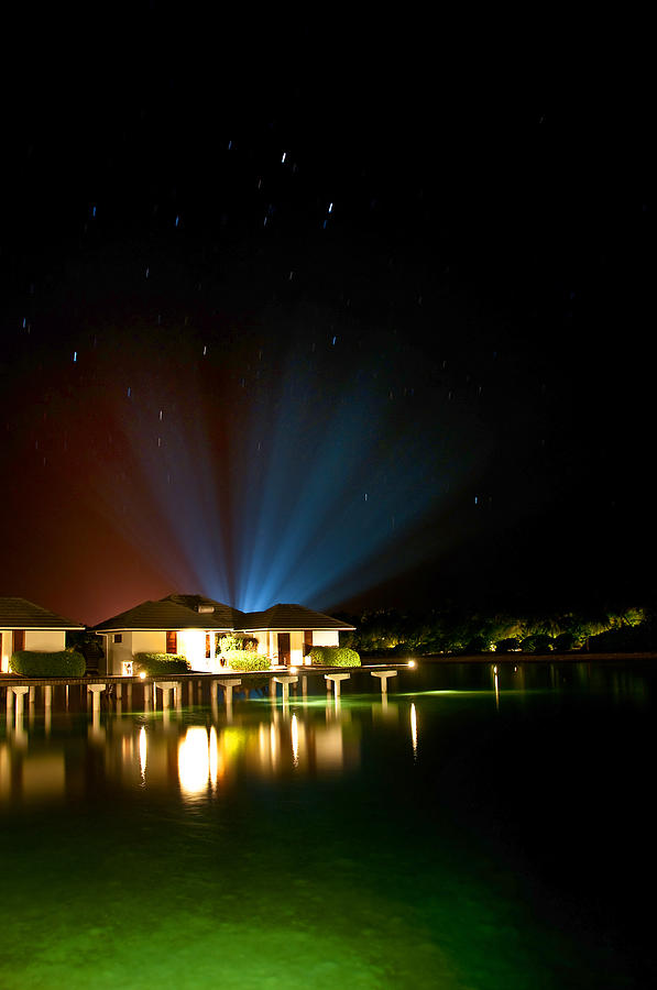 Tropical Photograph - Alien Light At The Tropical Resort by Jenny Rainbow