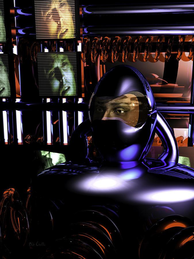 Alien Abduction Digital Art - Alien Mind Control by Bob Orsillo