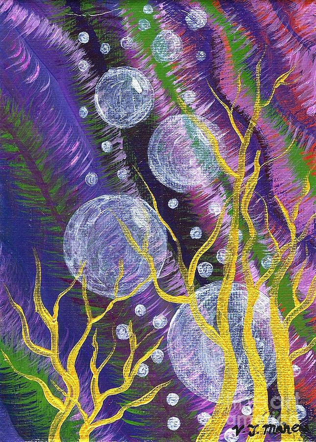 Bubbles Painting - Alien Sea by Vicki Maheu