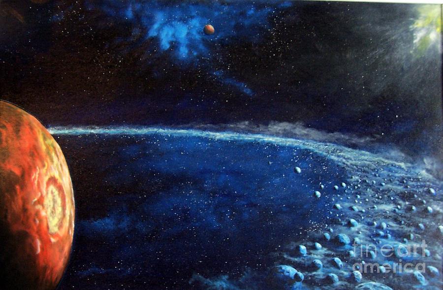 Space Painting - Alien Storm by Murphy Elliott