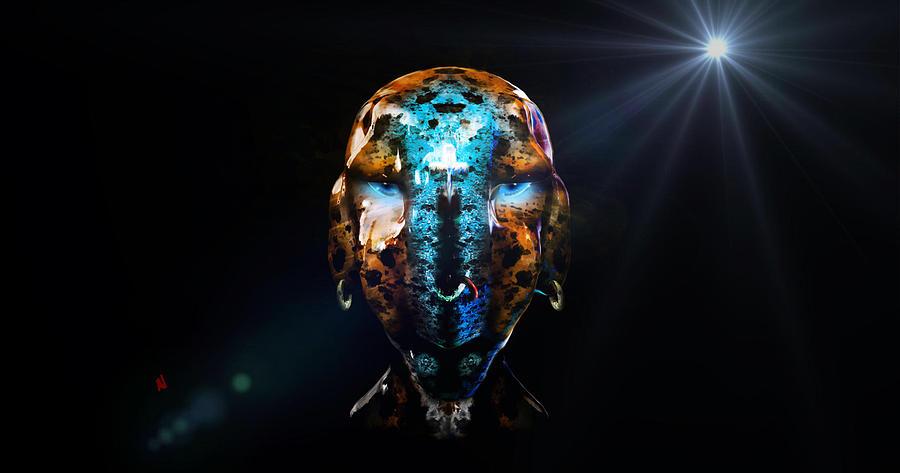 Alien Digital Art - Alien Wise Man by Adam Vance