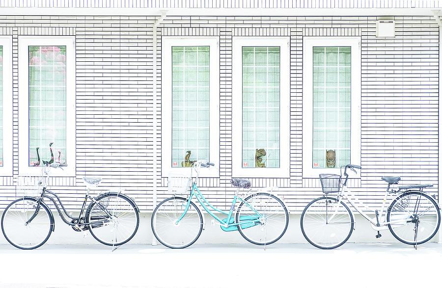 Bike Photograph - Alignment by Tomoshi Hara