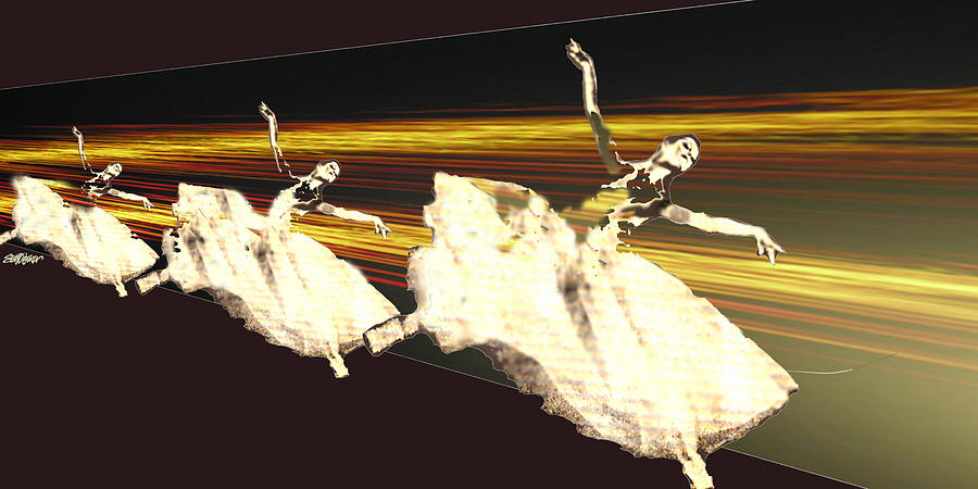 Ballet Digital Art - Alive In The Music by Seth Weaver