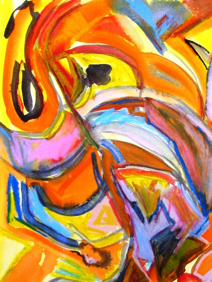 Abstract Painting - Alive by Rashne Baetz