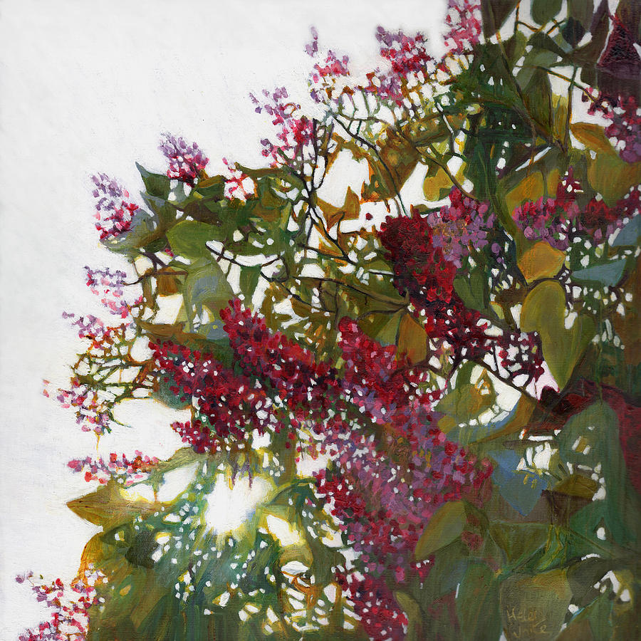 Red Painting - Aglow by Helen White