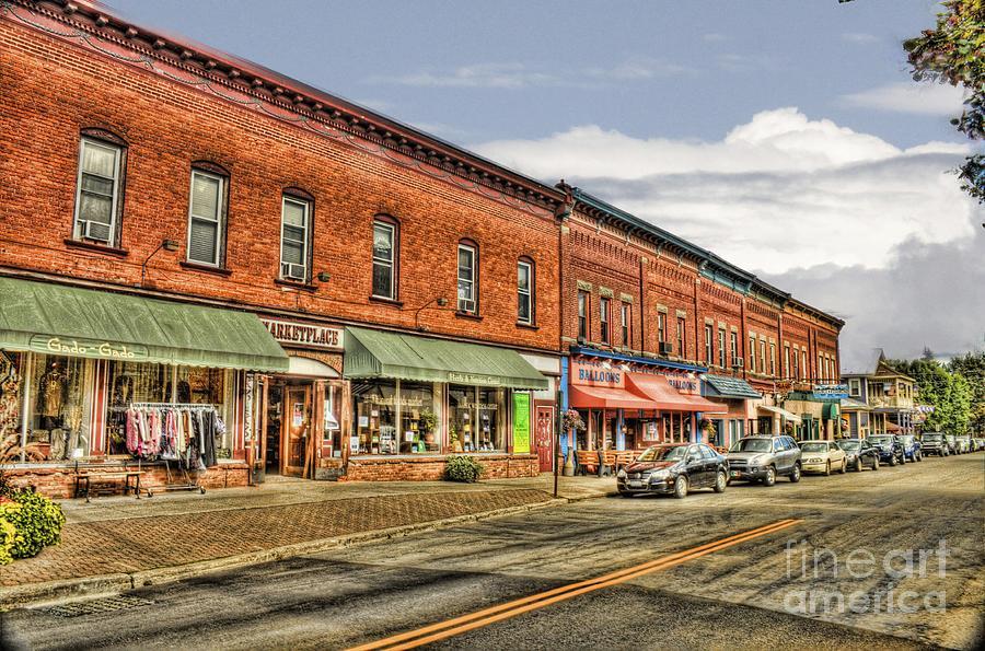 Main Street Photograph - All Along Main Street by Jim Lepard