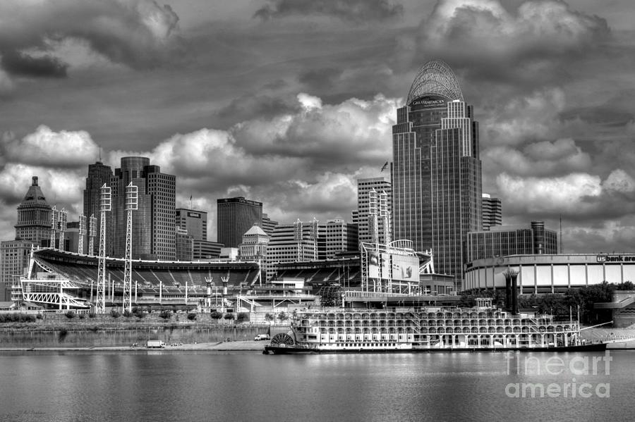 Cityscapes Photograph - All American City Bw by Mel Steinhauer
