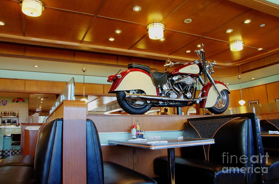 Table Photograph - All American Diner 4 by Bob Christopher