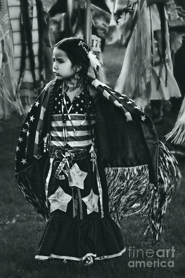 Native American Photograph - All American Girl by Scarlett Images Photography