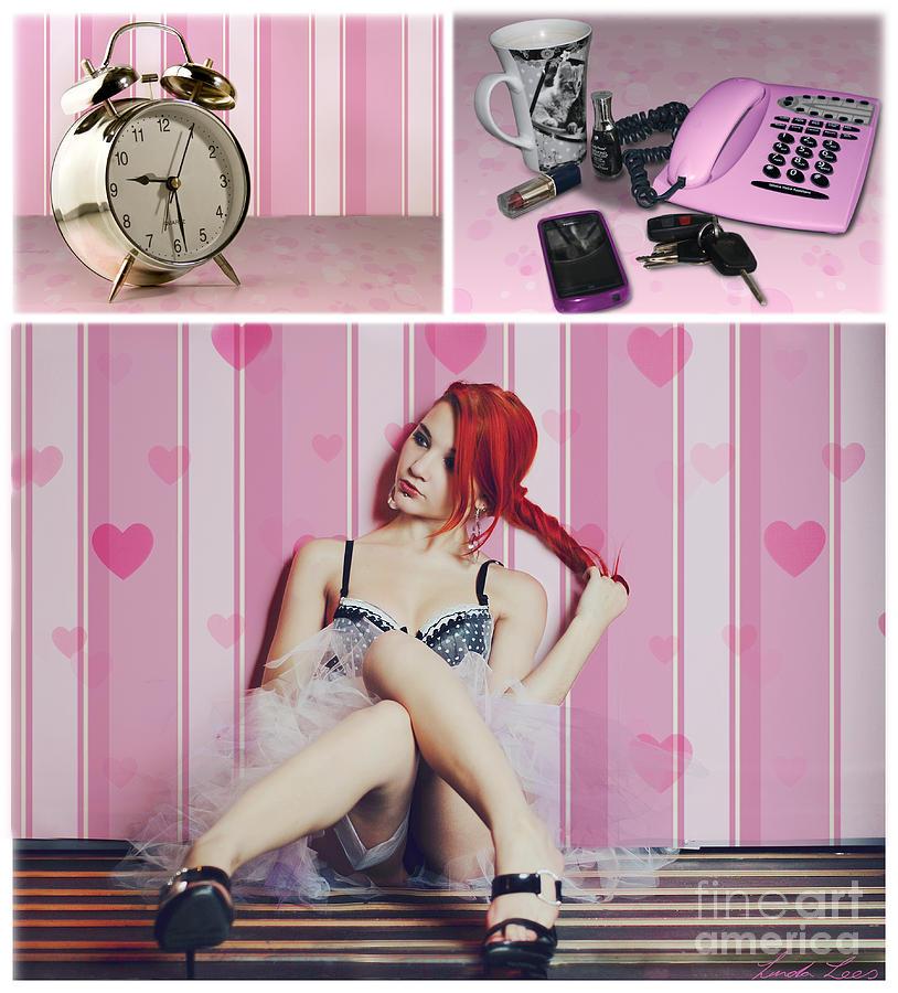 Girl Digital Art - All Dressed Up by Linda Lees