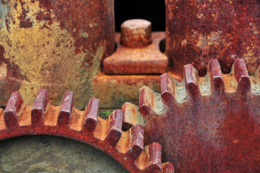 Gears Photograph - All Geared Up by Mike Martin