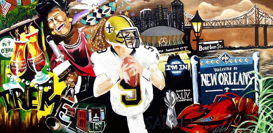 Oil Paintings Painting - All Hail New Orleans by Alonzo Butler